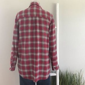 Madewell Tops - Madewell | Red Fairfax Plaid Ex Boyfriend Shirt